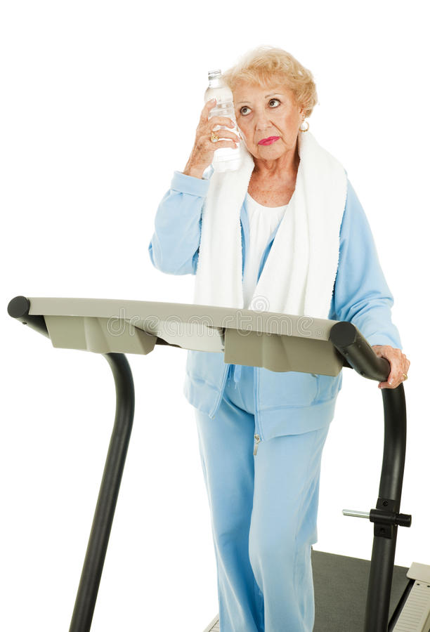 Fit Senior Woman - Sweaty And Tired Royalty Free Stock Image