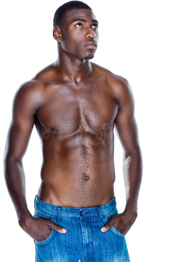 Fit shirtless young man royalty free stock photo