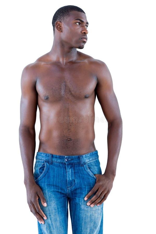 Fit shirtless young man royalty free stock photos