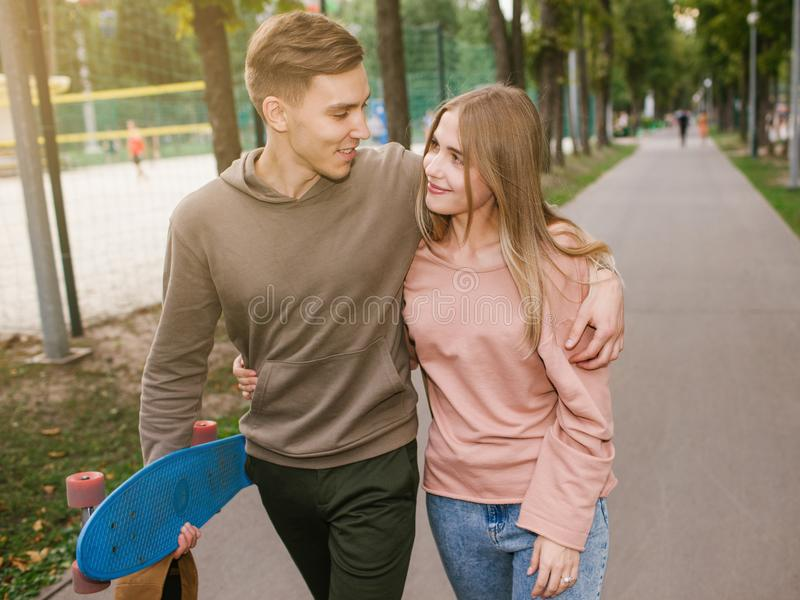 Fit sport couple healthy pastime youth lifestyle royalty free stock images
