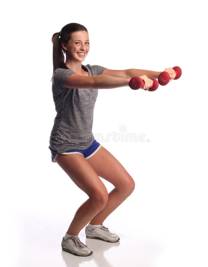 Fit teen working out royalty free stock photography