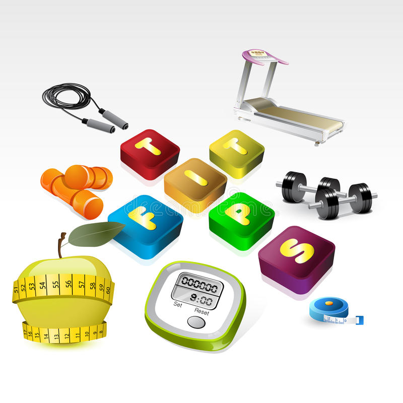 Download Fit Tips Version Of Fitness Equipment Icon Stock Illustration - Image: 24899686