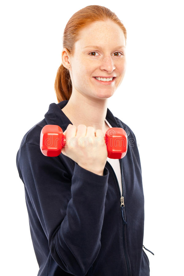 Download Fit woman with a dumbbell stock photo. Image of woman - 18072240