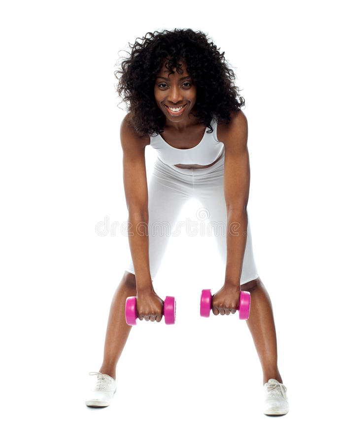 Download Fit Woman Exercising. Bending Down Stock Image - Image: 25261501