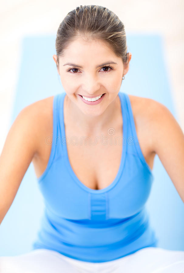 Download Fit woman at the gym stock photo. Image of healthy, pretty - 27664326
