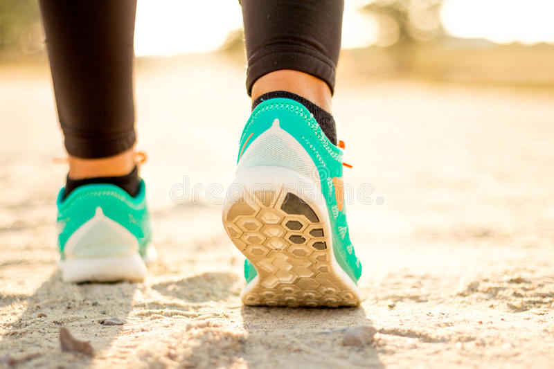 Fit Woman Running stock photo