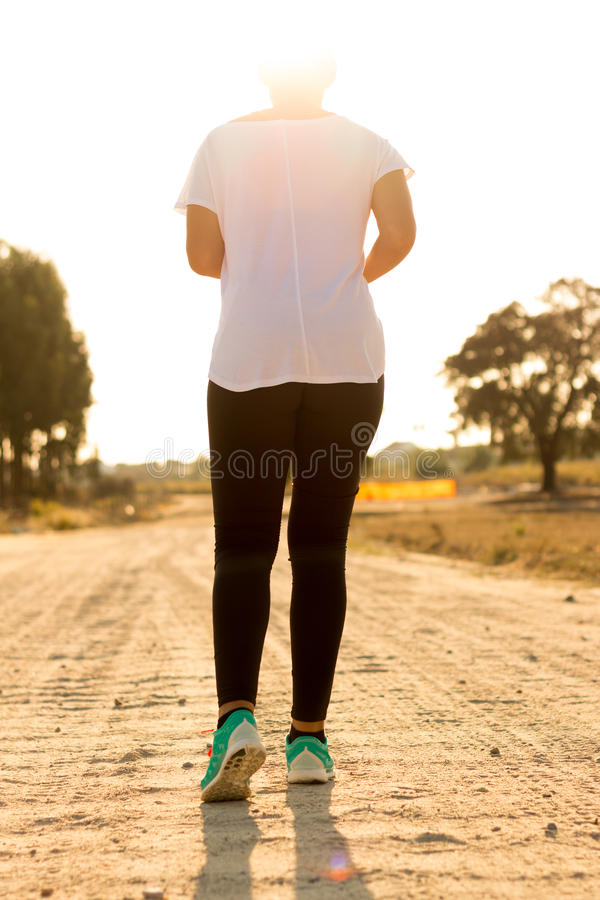 Fit Woman Running stock image