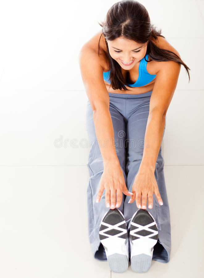 Download Fit woman stretching stock photo. Image of female, people - 24425314