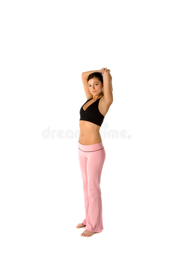 Download Fit woman stretching stock image. Image of workout, young - 2467507