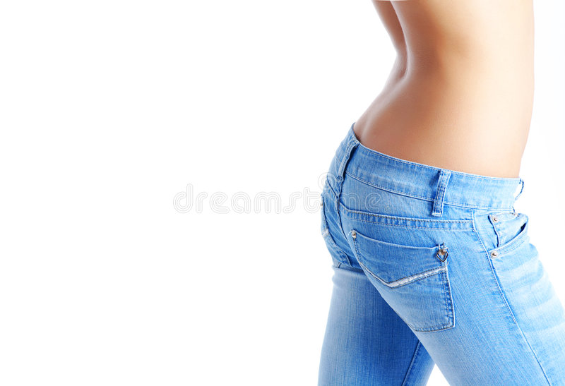 Download Fit Woman Wearing Blue  Jeans Stock Images - Image: 7195944