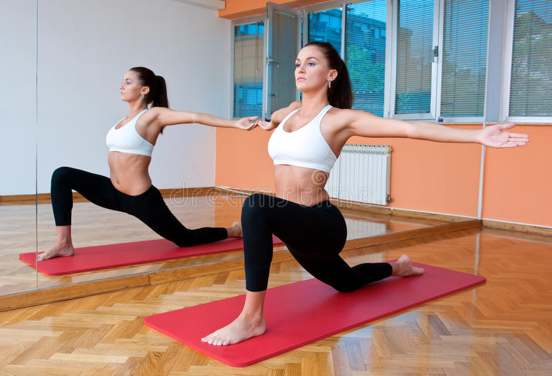 Download Fit woman working out stock photo. Image of byceps, woman - 19727272