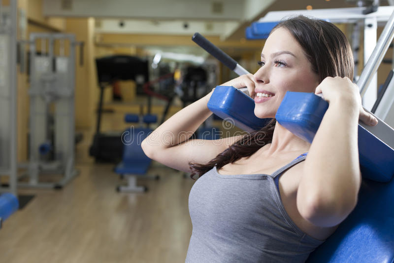 Fit Women in the gym. Beautiful Fit Women in the gym royalty free stock image