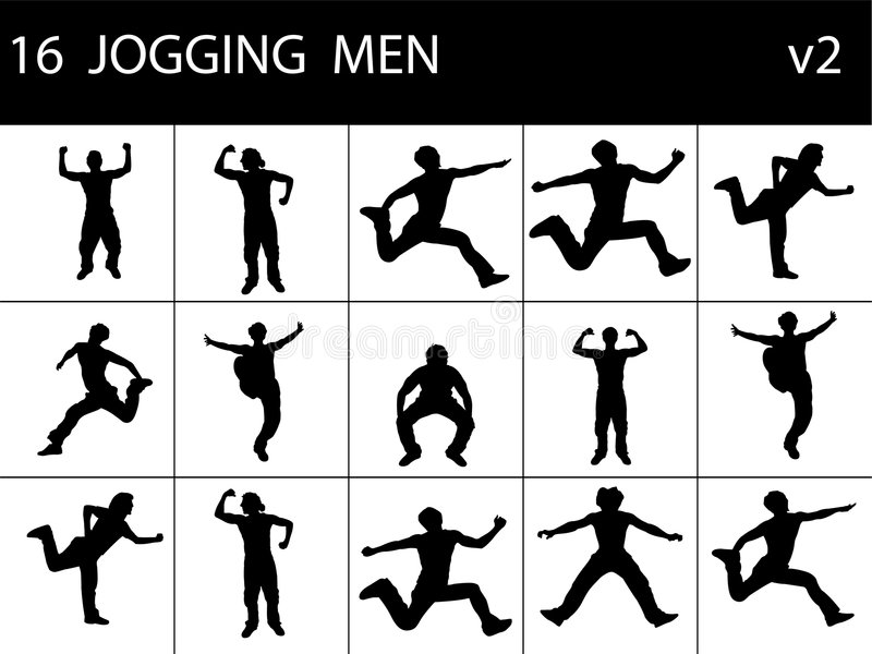 Fit young men. On isolated background royalty free illustration