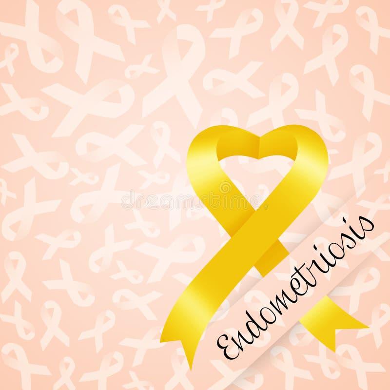 Fita amarela para a endometriose ilustração royalty free