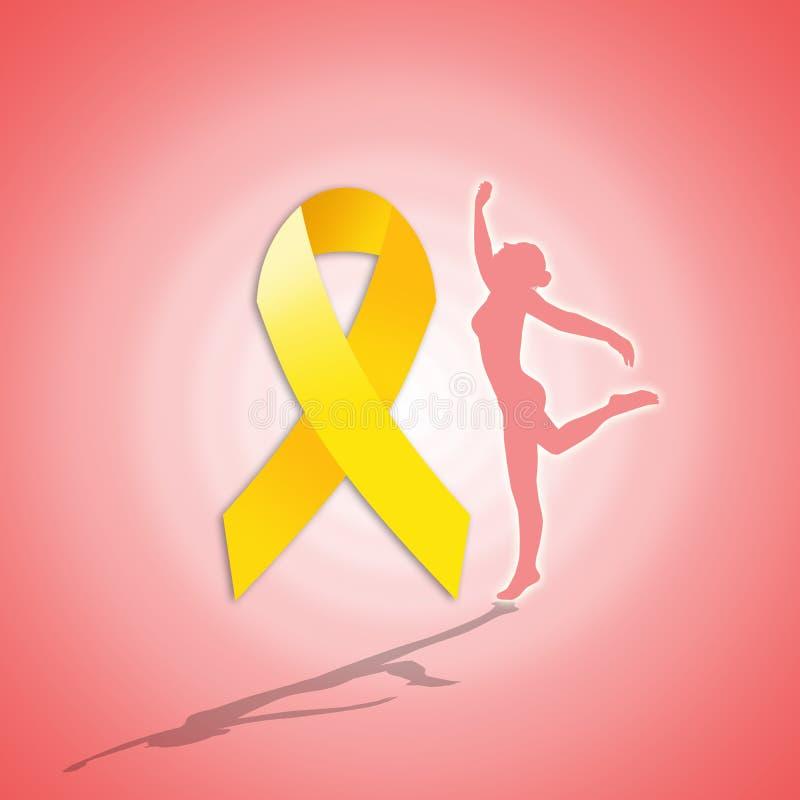 Fita amarela para a endometriose ilustração stock