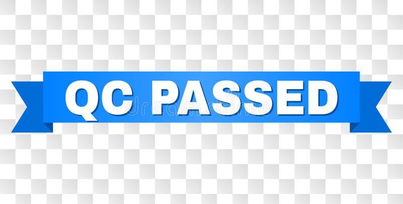 A fita azul com QC PASSOU o título ilustração stock