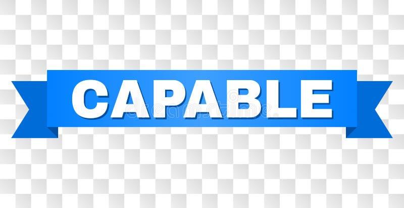 Fita azul com subtítulo CAPAZ ilustração royalty free