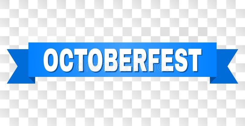 Fita azul com subtítulo de OCTOBERFEST ilustração royalty free