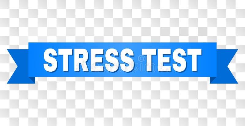 Fita azul com subtítulo do TESTE de ESFORÇO ilustração royalty free