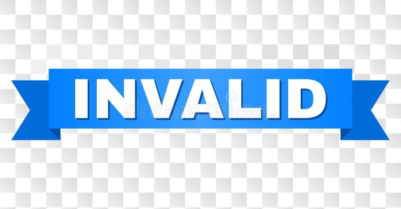Fita azul com subtítulo INVÁLIDO ilustração do vetor