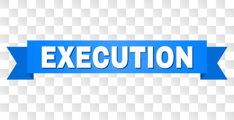Fita azul com título da EXECUÇÃO ilustração stock
