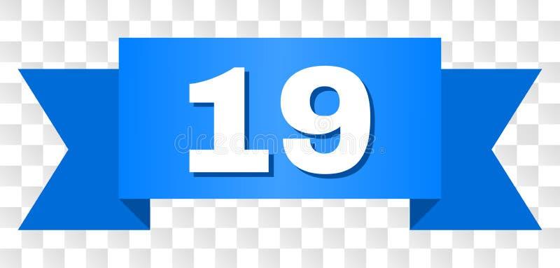 Fita azul com texto 19 ilustração do vetor