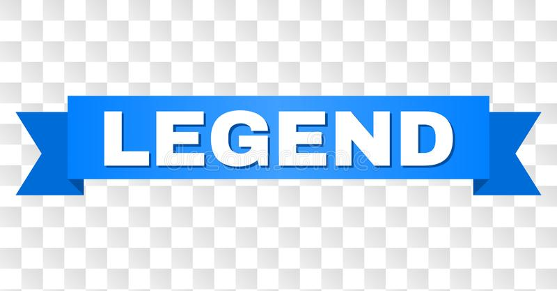 Fita azul com texto da LEGENDA ilustração stock