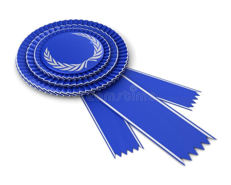 Fita azul da concessão ilustração royalty free