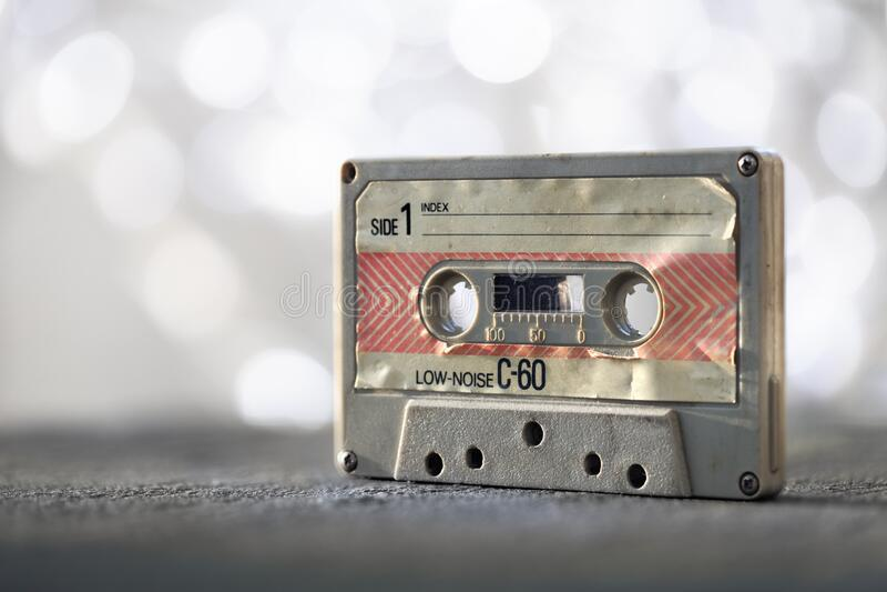 fita cassete de áudio foto de stock