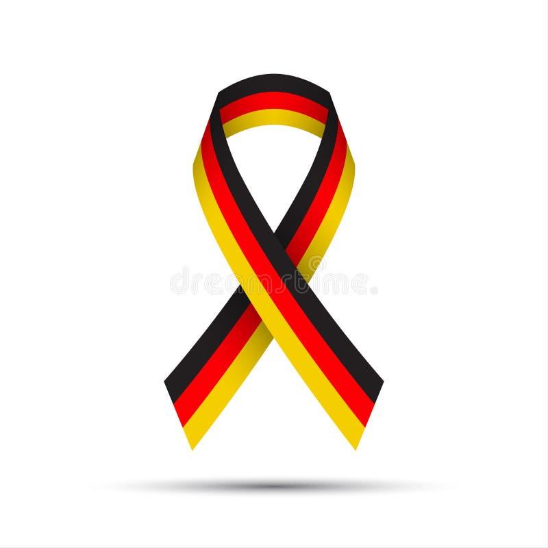 Fita colorida moderna com o alemão tricolor ilustração stock