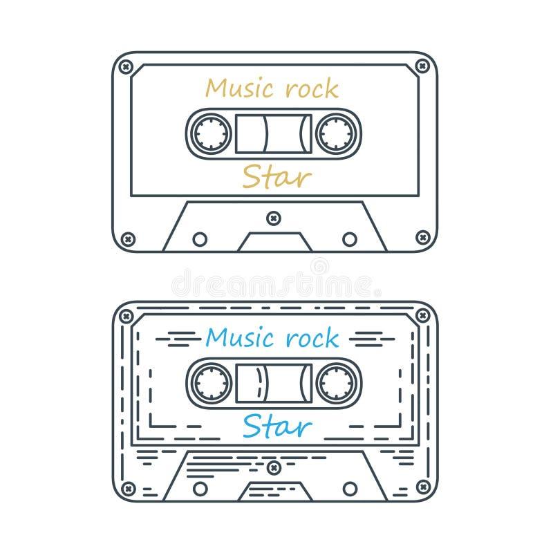 Fita da cassete áudio, ilustração do vetor ilustração do vetor