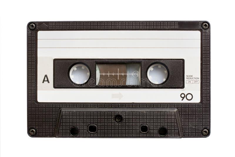 Fita da cassete áudio isolada no branco imagem de stock royalty free