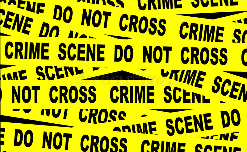 Fita da cena do crime ilustração stock