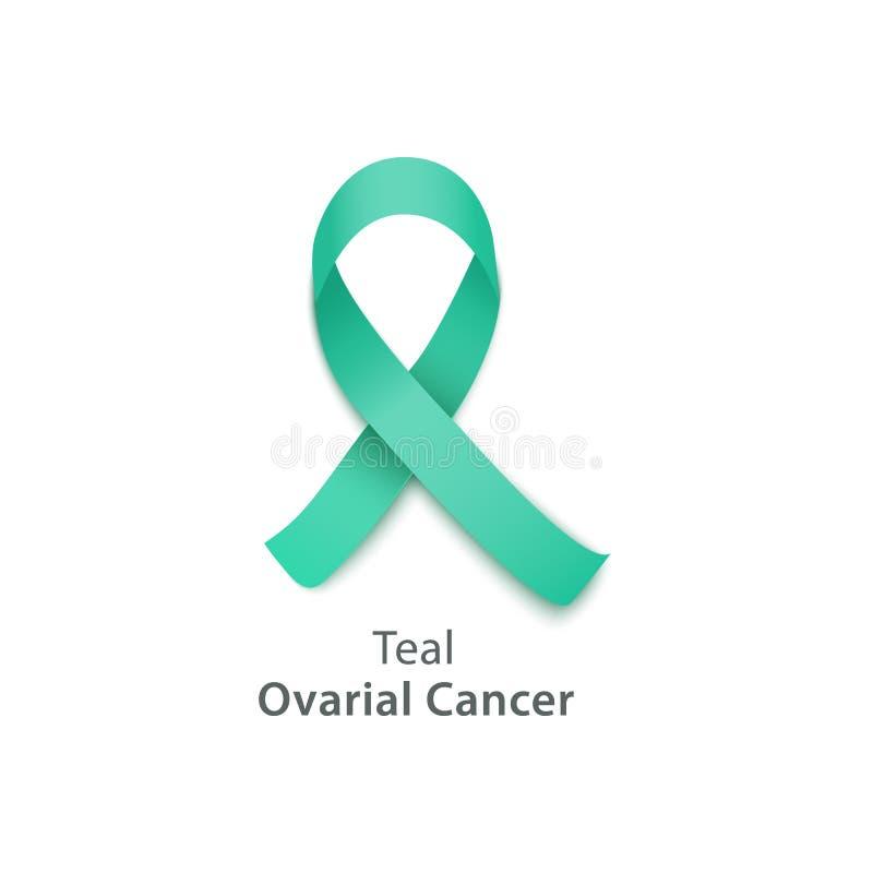 Fita da cerceta para o dia da conscientização do câncer do ovário ilustração stock