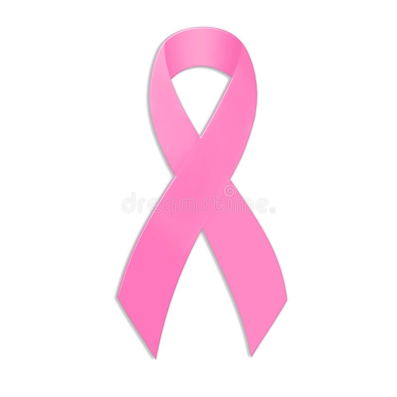 Fita da consciência do cancro da mama ilustração royalty free