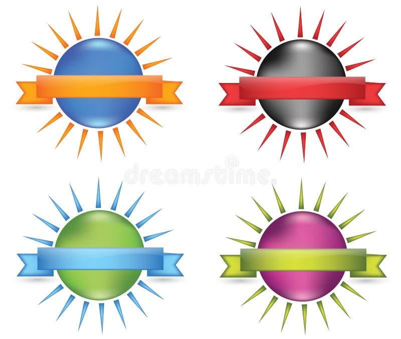 Fita da esfera ilustração stock