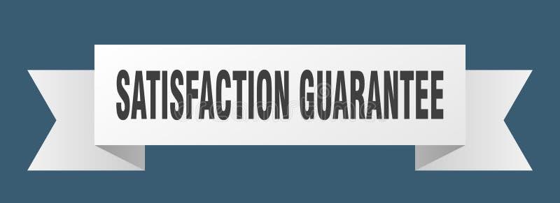 fita da garantia da satisfação ilustração do vetor