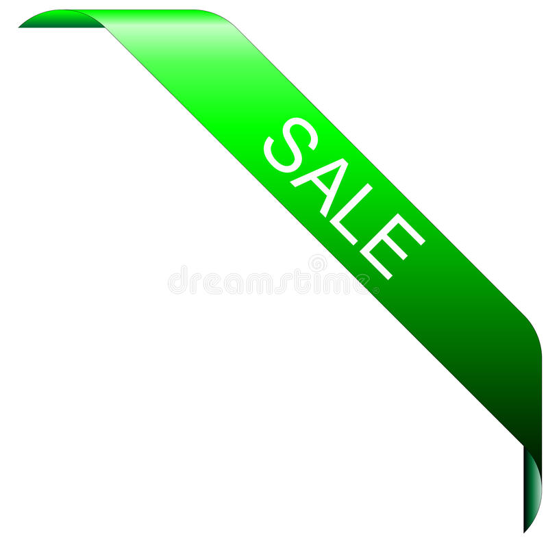Fita de canto para artigos com venda ilustração do vetor