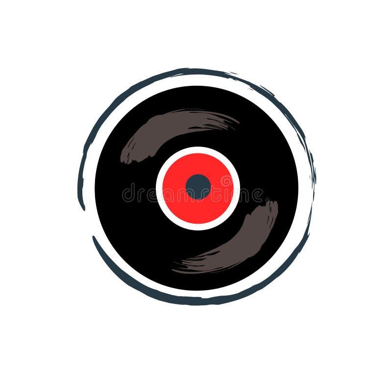 Fita de gravação do vinil para a ilustração do vetor da música ilustração stock