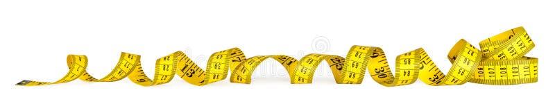 Fita de medição da métrica amarela foto de stock