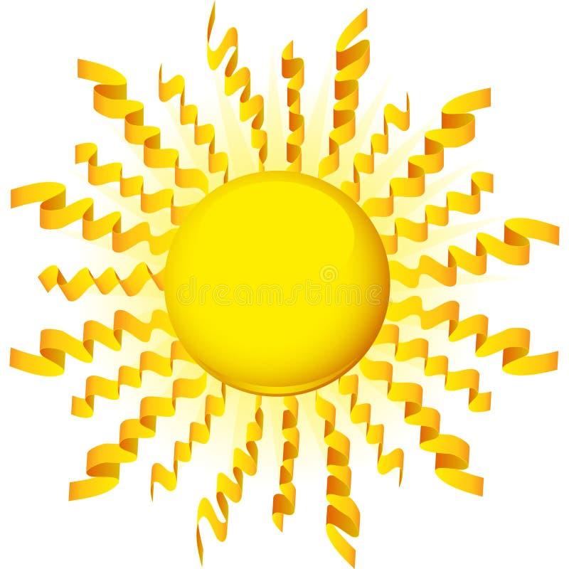 Fita de Sun ilustração stock