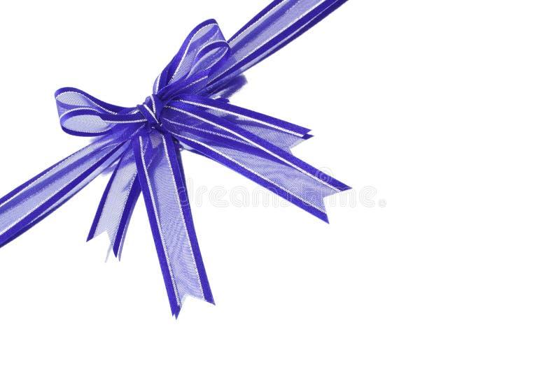 Fita decorativa azul da curva fotos de stock