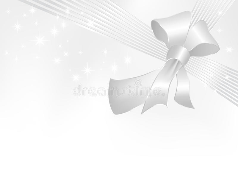 Fita do cinza de prata com curva ilustração do vetor