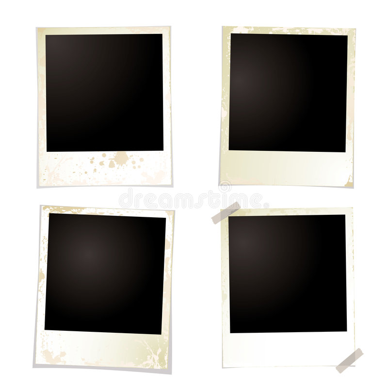 Fita do grunge quatro do Polaroid ilustração royalty free