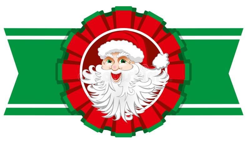 Fita do Natal com Papai Noel ilustração do vetor