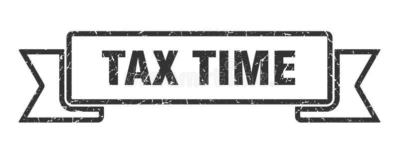 fita do tempo do imposto ilustração stock