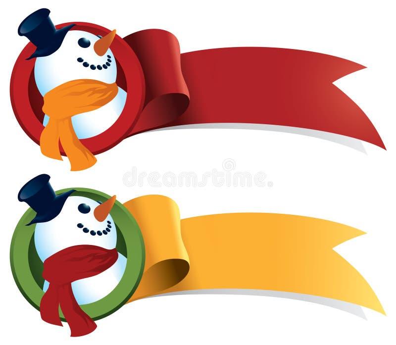 Fita do Web do Natal do boneco de neve ilustração royalty free