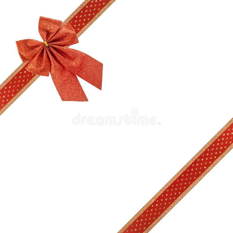 Fita e curva vermelhas do Natal fotos de stock royalty free