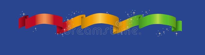 Fita e estrelas ilustração do vetor