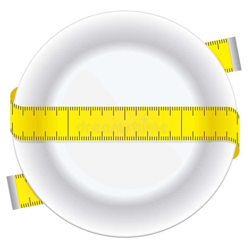 Placa da dieta ilustração royalty free